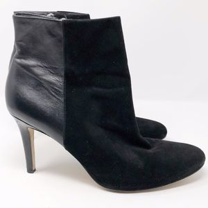 ANN TAYLOR Black Leather Ankle Boots in EUC - 10